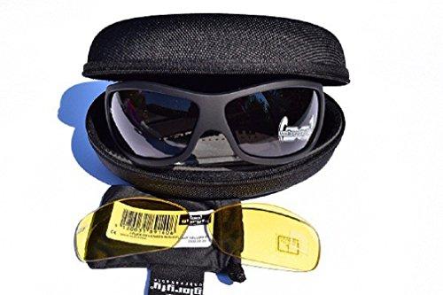 Gloryfy G3 black Set unbreakable Sonnenbrille plus NIGHTFLIGHT yellow f1 Wechselgläser