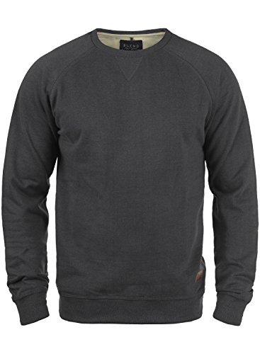 BLEND Alex 20701680ME Sweatshirt, Größe:S;Farbe:Charcoal (70818) (Fleece-pullover Charcoal)