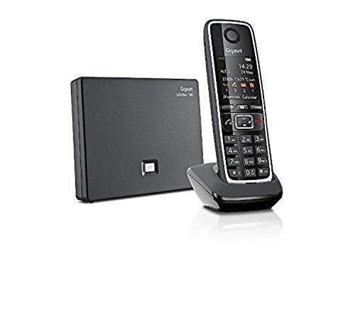Gigaset C 530 A Go Telefono Cordless VoIP, Chiamate via Internet, 3 Segreterie Telefoniche, Nero [Italia]