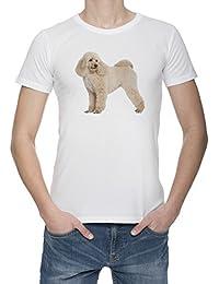 Perro Del Caniche Camiseta Para Hombre Blanca Todos Los Tamaños | Men's White T-Shirt Top