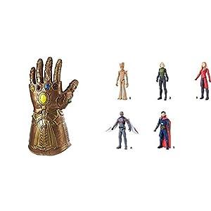 Marvel Avengers - Guantelete electrónico articulado (Hasbro E0491EU4) + Titan Hero Series, modelos surtidos (Hasbro E2170EU4)