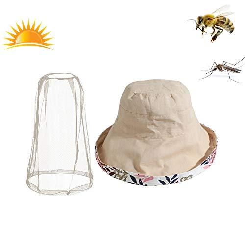FACAI&SU Outdoor Anti-Moskito-Maske Hut mit Kopf Net Mesh Gesicht UV-Schutz Sonnenhut,Sonne, Sonnenschutz,Angeln, Reisen,Camping, Imkerei,Unkraut ()