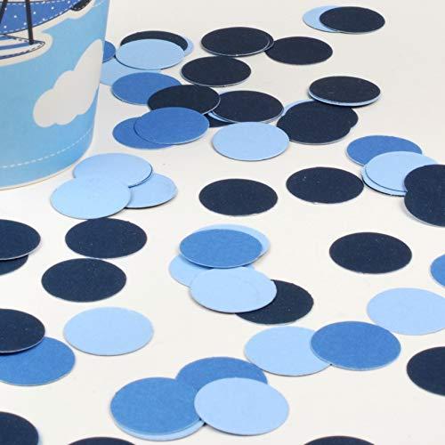 fetti Mix | Konfetti aus Papier (Party, Hochzeit, Deko, Hochzeitsdeko, Konfeti in Pastell) Wunderschönes Konfetti (Blau/Weiß) ()