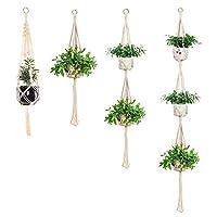 AllGoodWare 4 Pack Macrame Plant Hanger,Flower Pot Holder for Ceiling Outdoor Garden Balcony Hanging Basket Holder