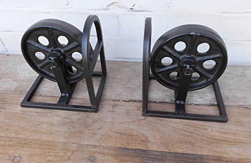 Deko-Impression Schwere, Dekorative Buchstützen Eisen Industrial Style schwarz Set