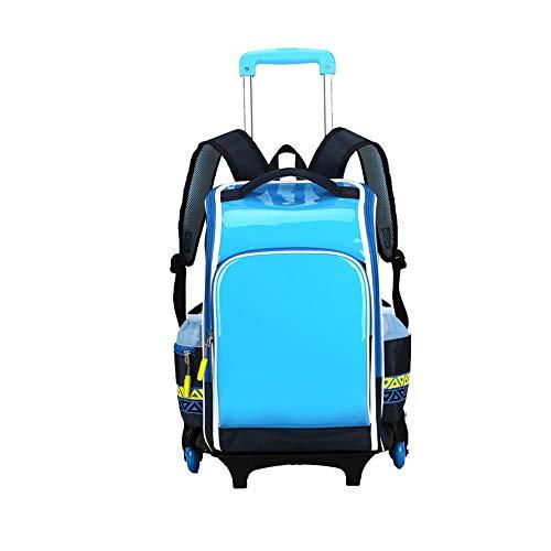 Kindergepäck,Rucksack auf Rädern - Schulrucksack mit Radtasche Hand Push Wheel Travel Bag-B