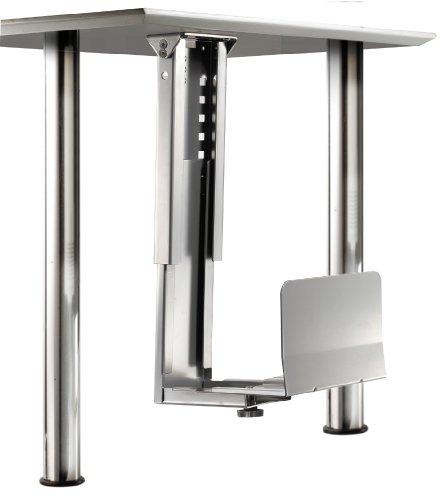 ROLINE PC Halterung | Computerhalterung Untertisch | Tischhalterung in silber