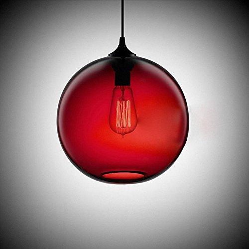 Cozyle Pendentif Vintage suspension à lumière rouge verre Shades