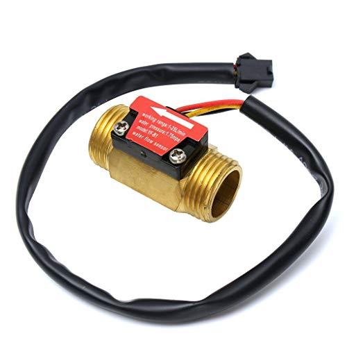 Yongse Vollkupfer-Wasserströmungssensor 1.75Mpa G1/2 Pulse Hall Flow Meter Switch 1-25L/Min -