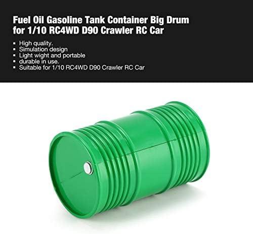 Jasnyfall Conteneur de réservoir d'essence d'essence d'essence pour mazout Big Drum pour Voiture RC RC10WD D90 Crawler 495750