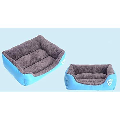 Animale domestico color caramella di forma quadrata caldo Doghouse nido gatto nido dog pet stuoia , blue , s - Portatile Dog Bath