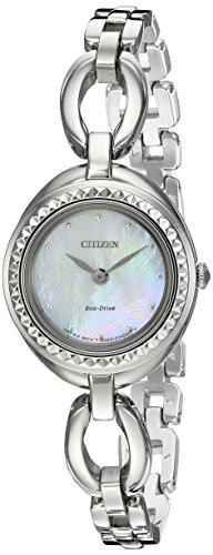 Citizen Eco-Drive 'Silhouette'da donna, stile Casual, con orologio al quarzo, in acciaio INOX, colore: argento, tonalità, modello: ex 1440-61D) - Citizen Eco Drive Silhouette