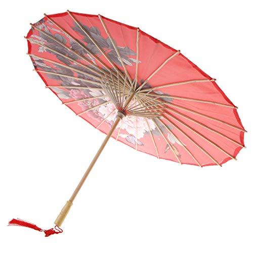 D DOLITY Retro Papierschirm Regenschirm Sonnenschirm Tanz Schirm Deko Schirm, Klassischer Chinesischer Muster - 16