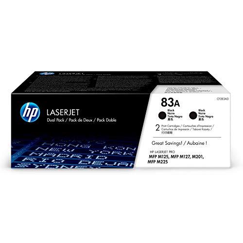HP 83 - Pack de ahorro de 2 cartuchos de tóner Original HP 83A Negro para HP LaserJet Pro MFP M225