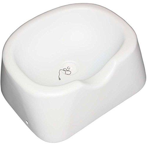 Haarwaschwanne weiß mit Kopfmulde - aus schlagfestem Kunststoff - für den mobilen und stationären Einsatz geeignet