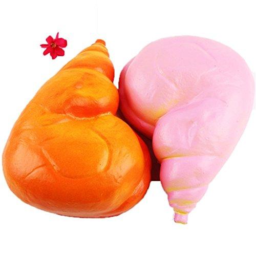Yeehoo 1pz squishy jumbo pane di pollo piazza squishies slow rising cute kawaii collezione regalo decor per bambini giocattolo, colore casuale