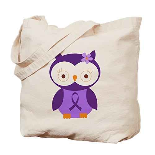 CafePress–Lila Band Bewusstsein Eule–Leinwand Natur Tasche, Reinigungstuch Einkaufstasche, canvas, khaki, S