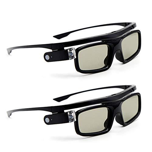 Docooler [2 Stücke GL1800 Projektor 3D-Brille Active Shutter Wiederaufladbare DLP-Link für alle 3D-DLP-Projektoren Optama Acer BenQ ViewSonic Sharp Dell ...