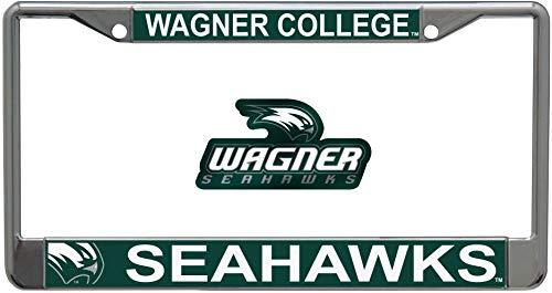 Wincraft Set 2 Teile: Wagner College Seahawks 1 Premium Chrome Kennzeichenrahmen und 1 Auto Emblem Aufkleber -