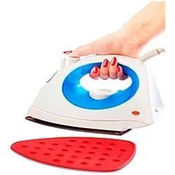 Almohadilla de silicio para colocar planchas de seco o de vapor, almohadilla de silicona color rojo–soporte para plancha