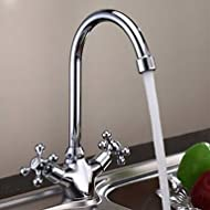 SHUYOU® High Quality Double Handle Chrome Bathroom Sink Faucet - Silver
