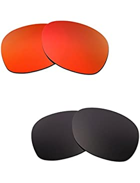Hkuco Mens Replacement Lenses For Ray-Ban Wayfarer RB2132 55mm Red/Black Sunglasses