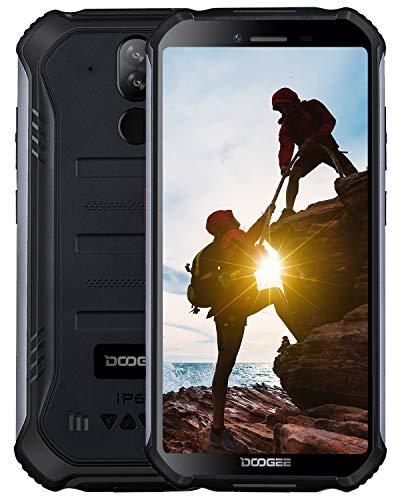 DOOGEE S40 4G Outdoor Smartphone ohne Vertrag, Android 9,0 Handy ohne Vertrag Dual SIM 3GB+32GB, IP68 Wasserdicht 5,5 inch 4650mAh Quadcore, 8MP+5MP Dual Kamera, NFC Fingerabdruck Gesicht ID, Schwarz Handy Dual-cpu