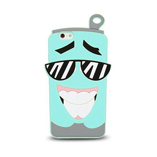 BACK CASE 3D TASSE / CUP für Apple iPhone 6 / 6S Hülle Cover Case Schutzhülle Tasche Silikonhülle Etui (schwarz) blau