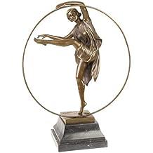 Escultura Georgia bailarina de bronce antiqued figura estatua 47cm