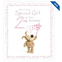 Boofle Birthday Card - for A Special Girl On Your 2ND Birthday