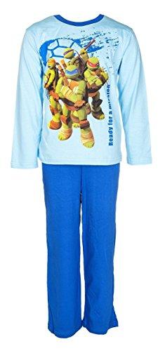 Ninja Turtles Schlafanzug, hellblau/blau, Gr. 128