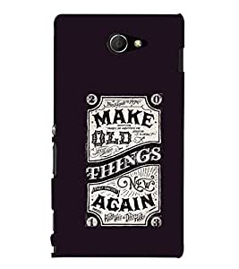 Ebby Printed back cover for Sony Xperia M2(Premium Designer case)