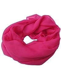Chiffon/Silk feel Plain Summer Colours: lilac, yellow, blue, fuchsia Ladies Fashion Shawl Scarf 160cm x 70cm by Fat-Catz-copy-catz