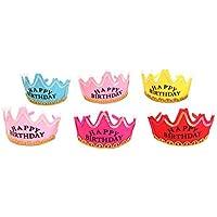 Toyvian Corona Cappelli Compleanno Luminosi con LED Luce per Bambini e  Adulti 6 Pezzi (Colore a78bd201d69e