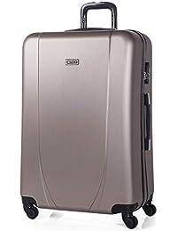 ITACA - Maletas de Viaje Rígidas 4 Ruedas Trolley ABS. Resistentes y Ligeras. Mango Asas Candado. Equipaje de…