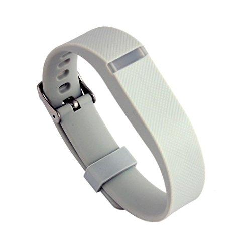 Bescita Ersatz Armband mit Metall Schnalle für Fitbit Flex Armband Wristband (Grau)
