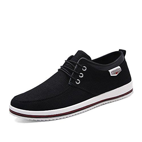 CUSTOME Hombres Lona Zapatos Plano Suave Ligero Casual para Caminar Zapatos Sneaker Alpargatas Comodidad...