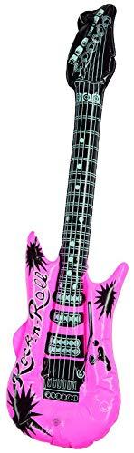 Rubies 61411 - Aufblasbare Gitarre, Inflatable Guitar, Rosa, Rock-n-Roll