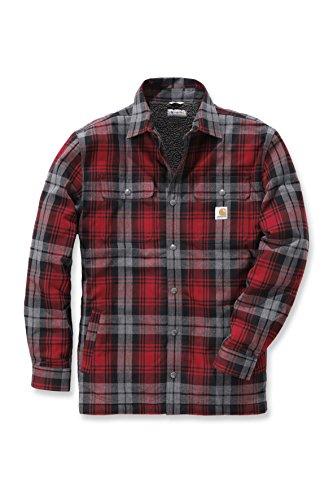 Carhartt Hubbard Shirt mit Webpelzfutter, Farbe:rot, Größe:M