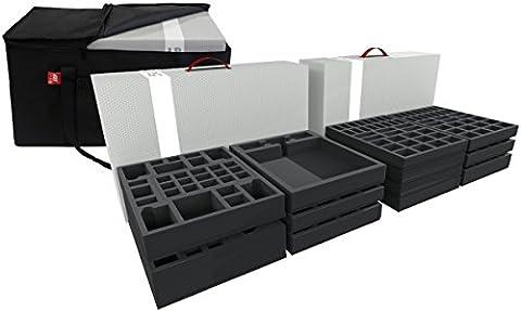 Transporter with 2 XL storage boxes for Zombicide Black Plague Kickstarter Knight Pledge