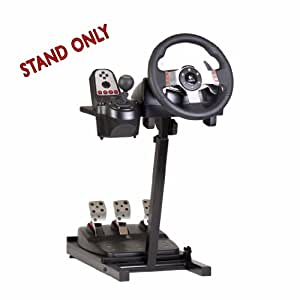 The Ultimate Steering Wheel Stand in Black - suitable for Logitech, Xbox, Madcatz and Thrustmaster
