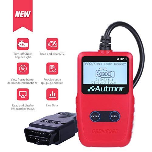 Autmor OBD2 Scanner Diagnostico [2018 Aggiornato] per Auto Lettore di  Codici di Errore con Display a LCD per Leggere e Cancellare i Codici di  Guasto