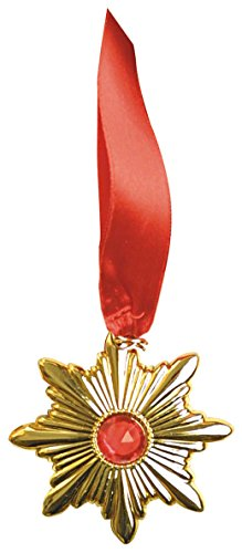 Gold Kostüm Halskette Medallion - Widmann vd-wdm8410r Medaillon Dracula, gold, Einheitsgröße
