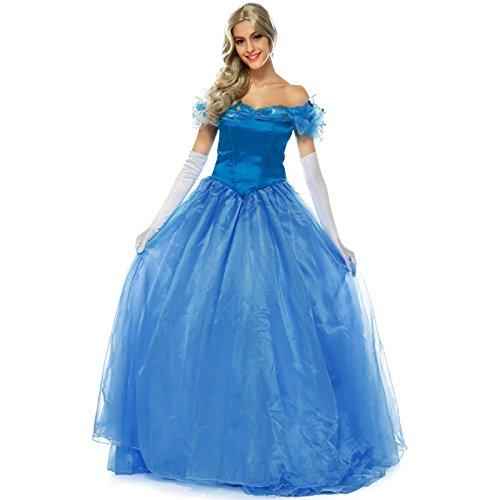 Kostüm Edel Zombie - LLY Erwachsene Kleidung blaues Kleid Theateraufführungen tragen Halloween Cosplay Kostüm, XL