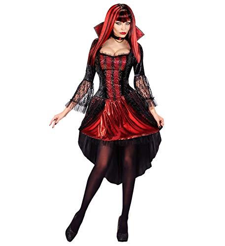 24costumes Vampirin Kostüm |Halloween Kostüm 2 teilig |Verschiedene Größe S - XL: Größe: - Graf Dracula Braut Kostüm
