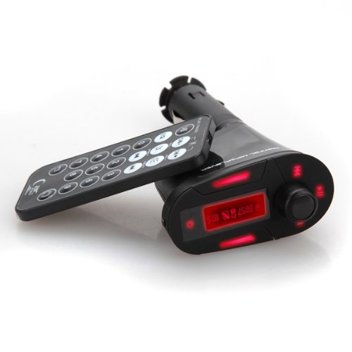 elegiant USB-transmetteur FM mit MP3-Player für Auto (SD MMC LCD + Fernbedienung)