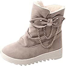 Beladla Botas De Mujer Invierno Nieve Invierno Ocio Arco Nieve Botas Navidad Zapatos De Plataforma Mantener