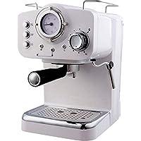 Macchina Caffe Macinato con Termometro Arielli KM-501W Espresso/Cappuccino 1/2 tazze 1100W 15bar 1.25L Bianca