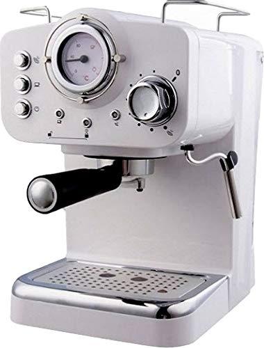 Macchina Caffe Macinato Espresso/Cappuccino 1/2 tazze 1100W 15bar 1.25L Bianca