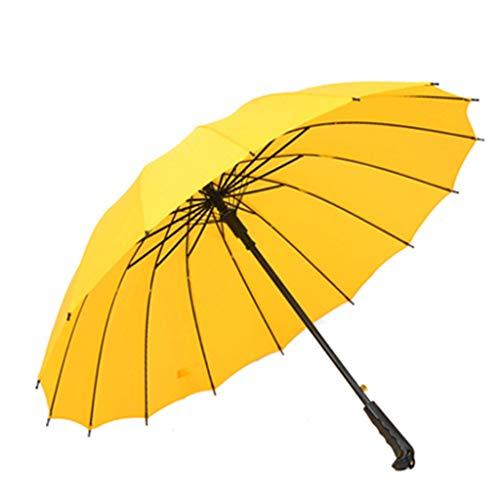 SYXYSM Spezielle 16-Knochen-Farbe Regenbogen-Regenschirm Stiel Regenschirm Regenschirm Regenschirm Regenschirm Business-Regenschirm Regenschirm (Color : A, Size : L)